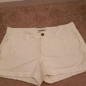 White old navy shorts